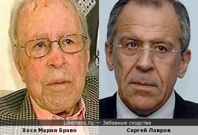 Хосе-Мария Браво Фернандес-Эрмоса и Сергей Лавров