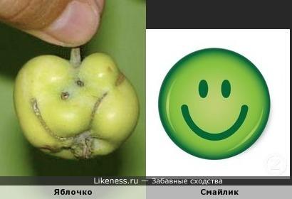 Смайличное яблочко или яблочный смайлик