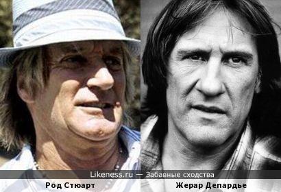Род Стюарт и Жерар Депардье