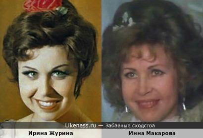 Ирина Журина и Инна Макарова