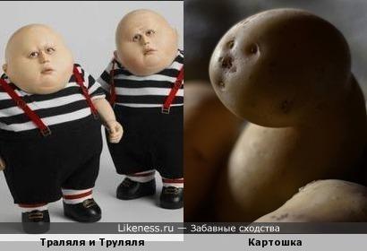 Картошка похожа на Траляля и Труляля