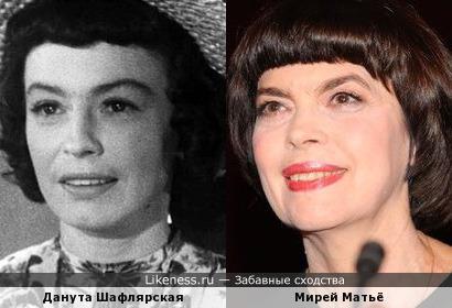 Данута Шафлярская и Мирей Матьё