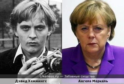 Дэвид Хеммингс и Ангела Меркель