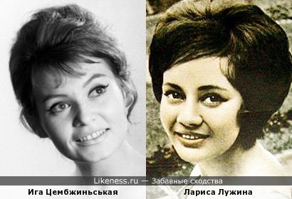 Ига Цембжиньськая и Лариса Лужина