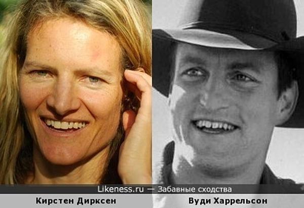 Кирстен Дирксен и Вуди Харрельсон