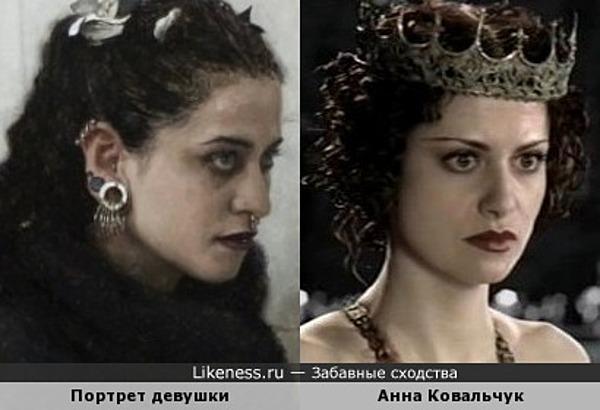 Девушка на картине художника Шона Читэма и Анна Ковальчук