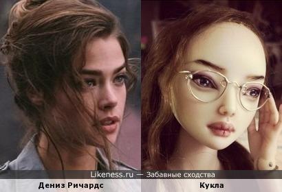 Дениз Ричардс и кукла Марины Бычковой