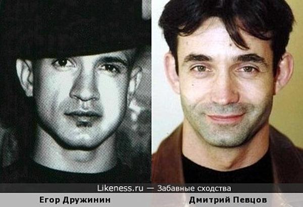 Егор Дружинин похож на Дмитрия Певцова