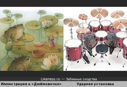 Иллюстрация к «Дюймовочке» и ударные музыкальные инструменты