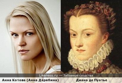 Анна Котова и Диана де Пуатье