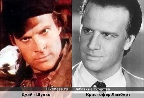 Дуайт Шульц и Кристофер Ламберт
