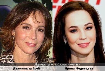Дженнифер Грей и Ирина Медведева