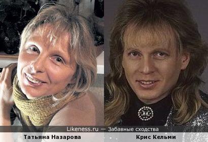 Татьяна Назарова и Крис Кельми