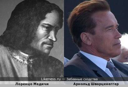 Портрет Лоренцо Медичи кисти Вазари и Арнольд Шварценеггер