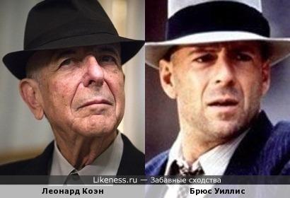 Леонард Коэн и Брюс Уиллис