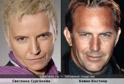 Светлана Сурганова и Кевин Костнер