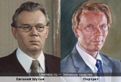 Мужчина на портрете художника Энтони Коннолли напоминает актёра Евгения Шутова