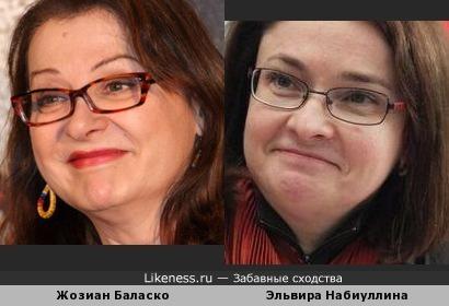 Жозиан Баласко и Эльвира Набиуллина