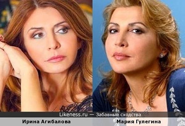 Ирина Агибалова и Мария Гулегина
