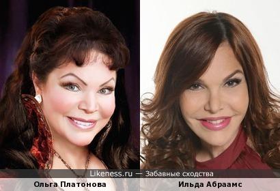 Ольга Платонова и Ильда Абраамс