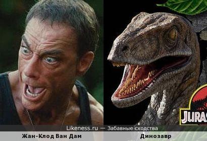 Жан-Клод Ван Дам и динозавр
