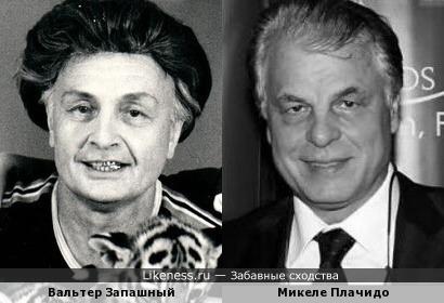 Вальтер Запашный и Микеле Плачидо
