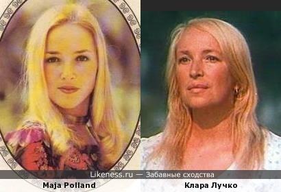 Переводная картинка из ГДР девушка Maja Polland 1977 и Клара Лучко