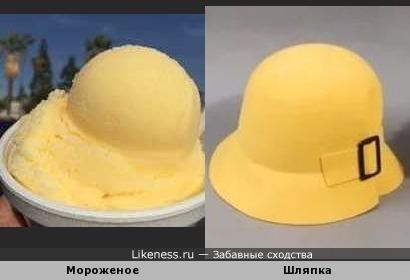 Шляпка-мороженое