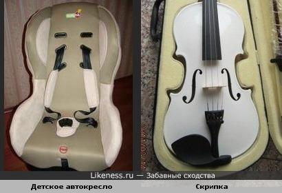 """Детское автокресло""""Скрипка"""""""