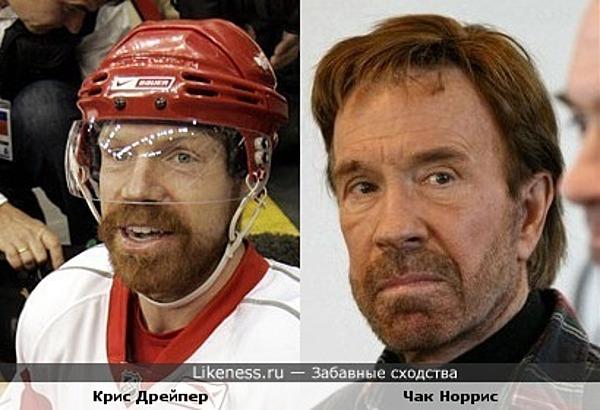 канадский хоккеист слегка напоминает Чака Норриса