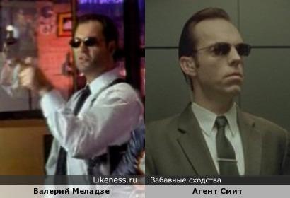 Валерий Меладзе играет роль Агента Смита в своем клипе