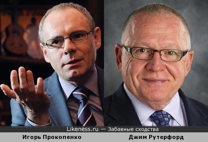 Игорь Прокопенко и генеральный менеджер Питтсбурга