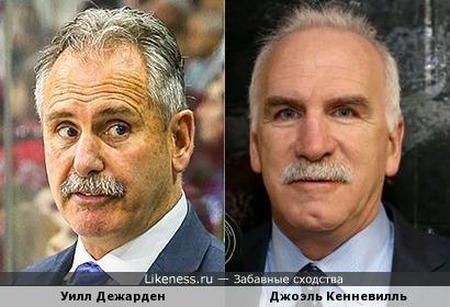 2 похожих хоккейных тренера