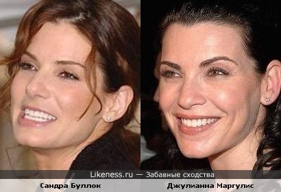 Сандра Буллок похожа на Джулианну Маргулис