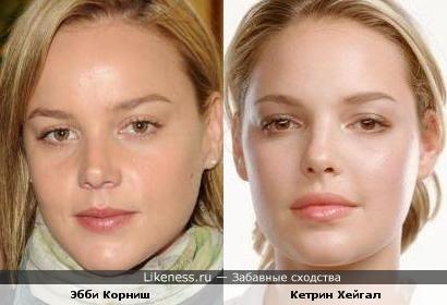 Эбби Корниш похожа на Кетрин Хейгал