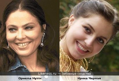 Ирина Черная похожа на Орнелу Мутти