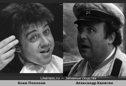 Итальянский актер Коки Понзони похож на Александра Калягина