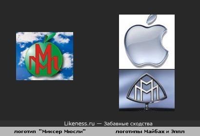 Логотип mixermuesli - как скрещенный Maybach и Apple