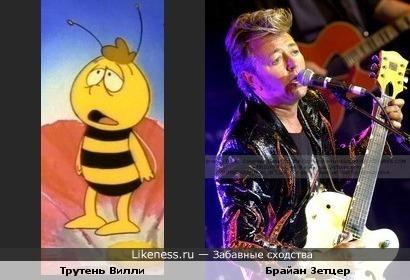 "Брайан Зетцер похож на Вилли из ""Пчелы Майи"""