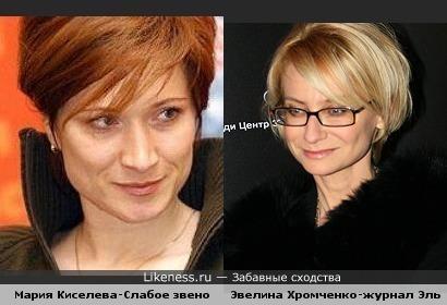 Мария Киселева одно лицо с Эвелиной Хромченко