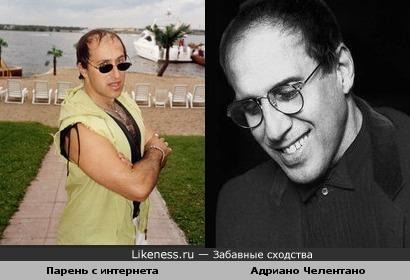 Какой то чел с майл.ру похож на Челентано