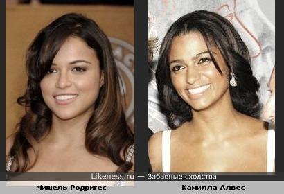 Мишель Родригес похожа на Камиллу Алвес!