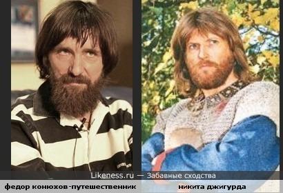 Федор Конюхов(мною глубокоуважаемый) похож с Никитой Джигурдой