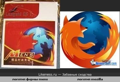 Логотип одной фирмы копия Мозиллы