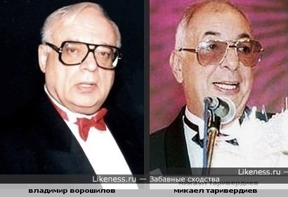 Владимир ворошилов и микаел таривердиев похожи