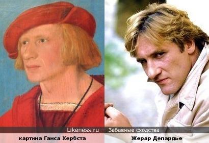 Человек с картины Ганса Хербста похож на Жерара Депардье