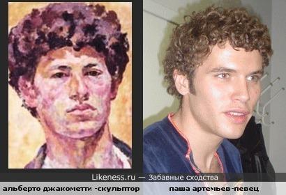 Альберто Джакометти и Паша Артемьев похожи