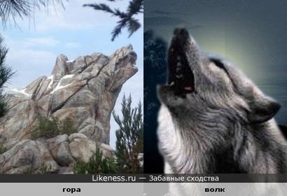 Гора похожа на волка