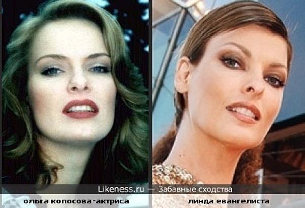 Ольга Копосова похожа на Линду Евангелисту