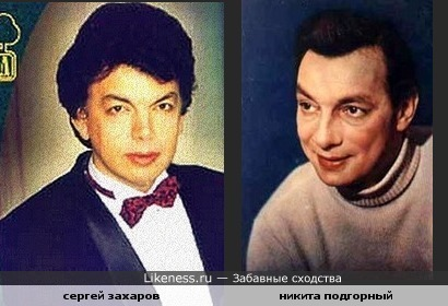 Похожи Сергей Захаров и Никита Подгорный